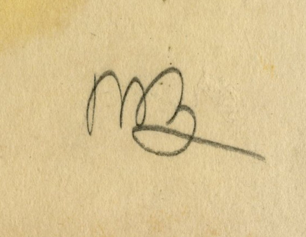 UMBERTO BOCCIONI [imputee] - Ispezione - Original charcoal drawing - Image 3 of 3