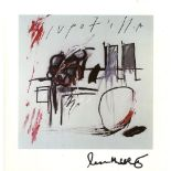 JEAN-MICHEL BASQUIAT - Red Circle - Color offset lithograph