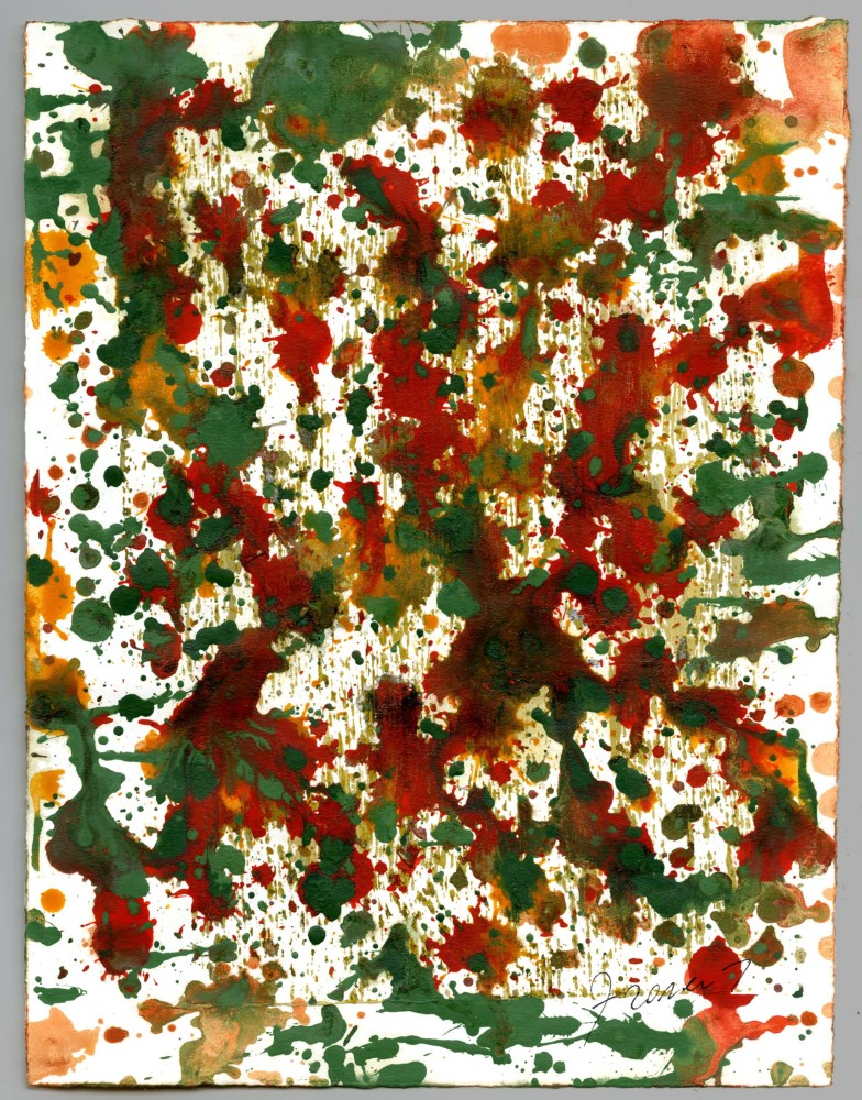 SAM FRANCIS [d'apres] - Composition - Oil and watercolor on paper