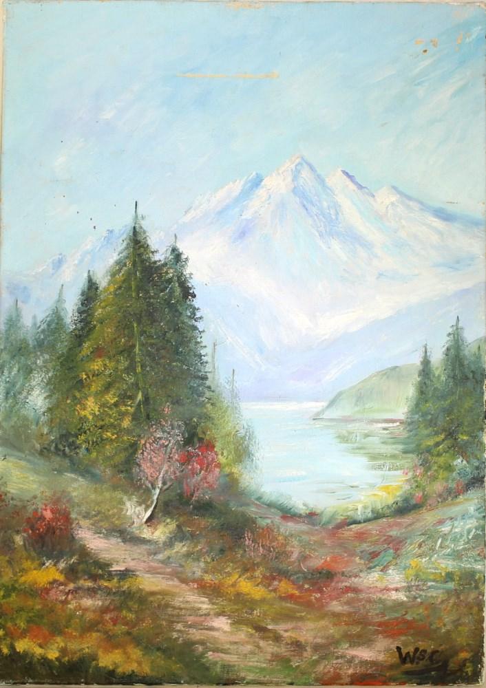 WINSTON S. CHURCHILL [imputee] - Four Peaks - Oil on canvas