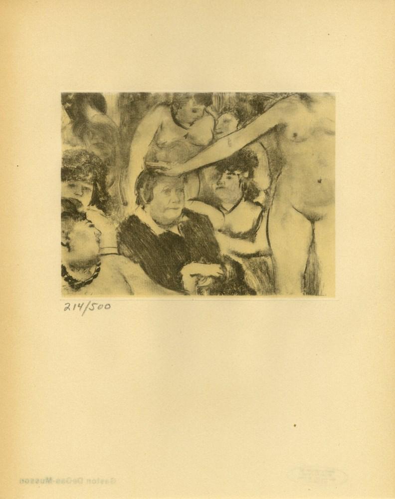 EDGAR DEGAS - Fete de la patronne - Original duogravure, after the monotype