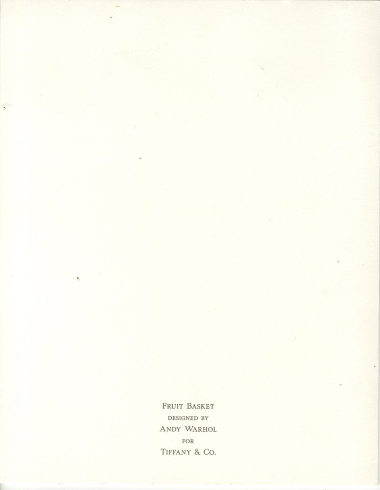 ANDY WARHOL - Christmas card: Fruit Basket - Original vintage color offset lithograph - Image 2 of 3