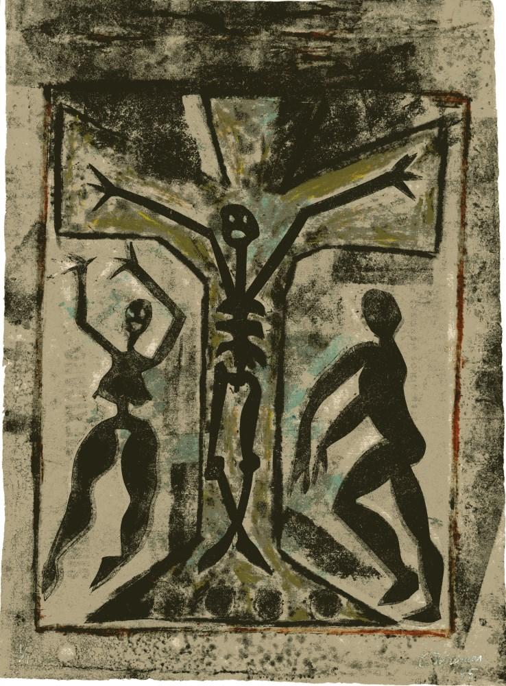 KARIMA MUYAES - Oracion Caribe - Color stencil monoprint