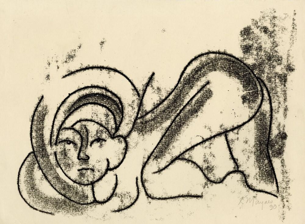 KARIMA MUYAES - Searching - Color monoprint