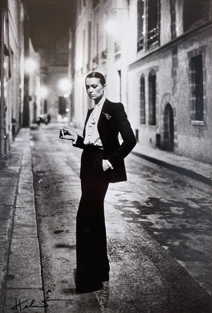 HELMUT NEWTON - Rue Abriot, Fashion Model, Paris, 1975 - Original photolithograph