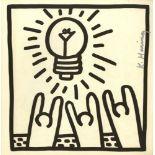 KEITH HARING - Light Bulb - Lithograph