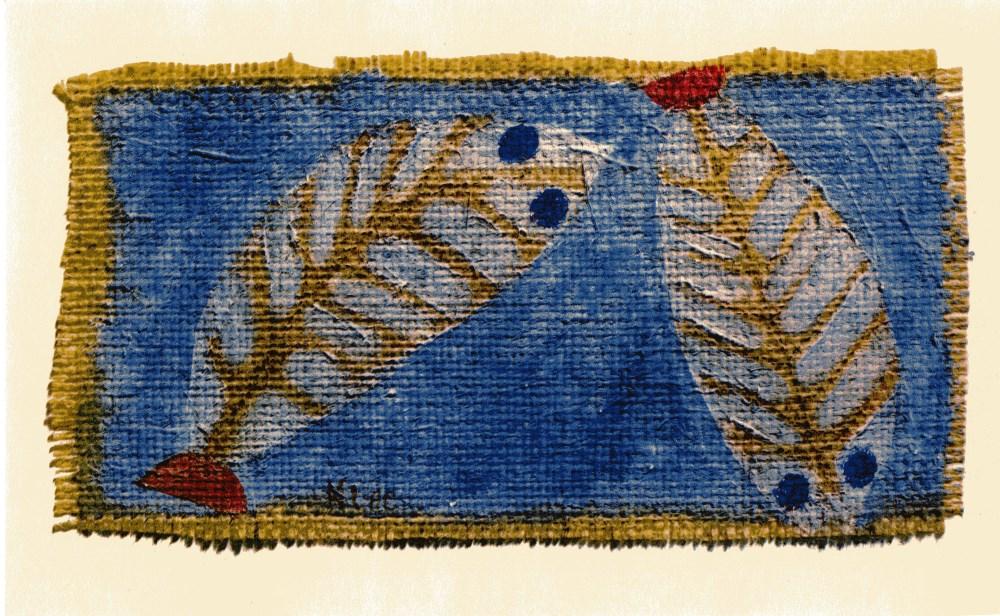 "PAUL KLEE - Blue-eyed Fishes [""Poissons aux yeux bleus""] - Original color collotype"