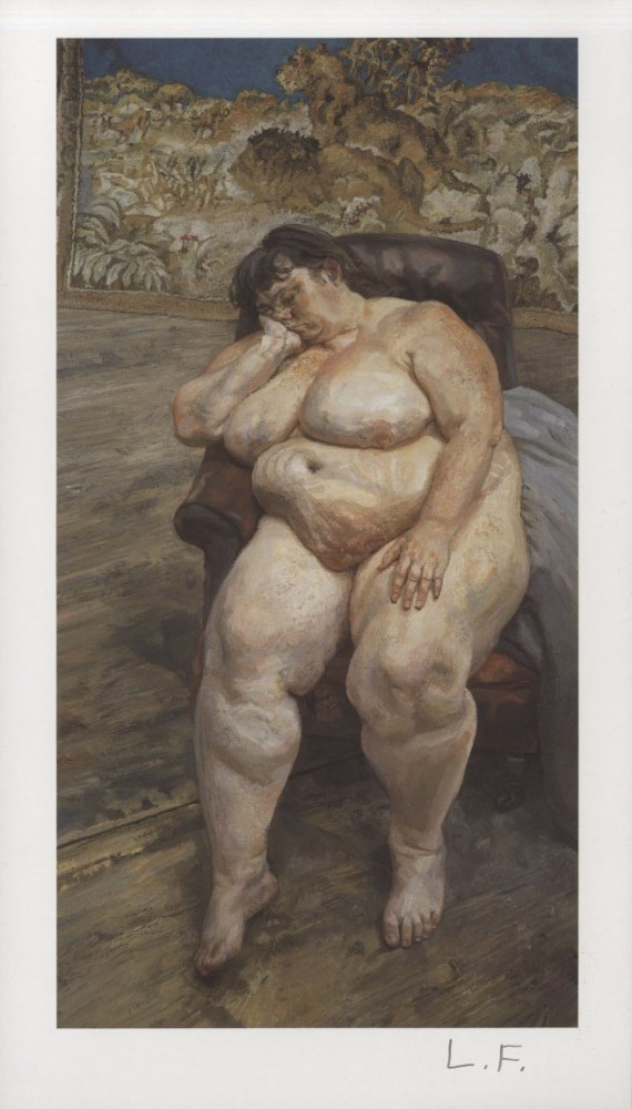 LUCIAN FREUD - Sleeping by the Lion Carpet - Color offset lithograph