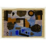 """PAUL KLEE - With the Two Strays [""""Avec les deux egares'] - Original color collotype"""