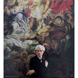 ANDY WARHOL - Portrait of Andy Warhol - Color offset lithograph