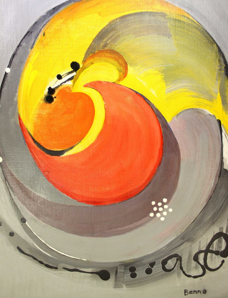 BENJAMIN GREENSTEIN BENNO - Complex Enzyme - Oil on canvas - Image 4 of 7