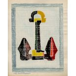 BEULAH TOMLINSON - Anchor (State II) - White line color woodcut