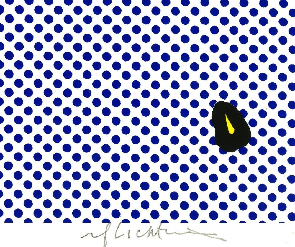 ROY LICHTENSTEIN - Brushstroke - Original color silkscreen - Image 2 of 2