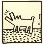 KEITH HARING - Barking Dog - Lithograph