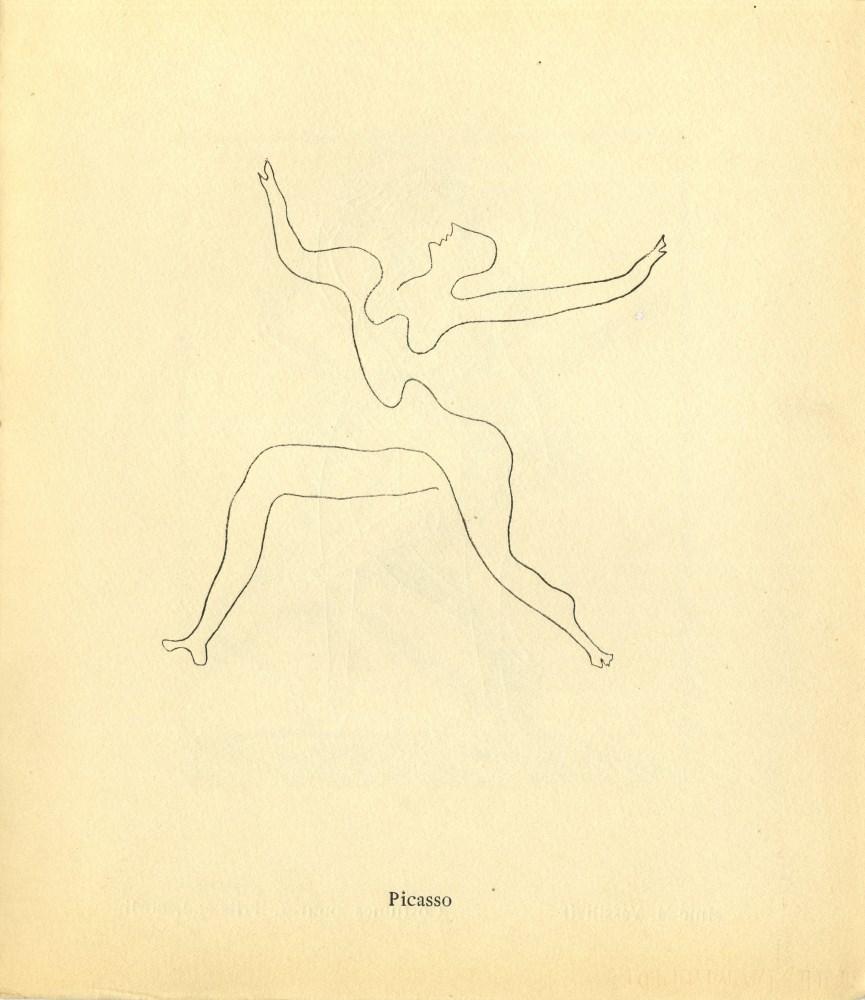 PABLO PICASSO - Bal Olympic: Vrai bal sportif costume (Programme) [Picasso *one original lithogra...