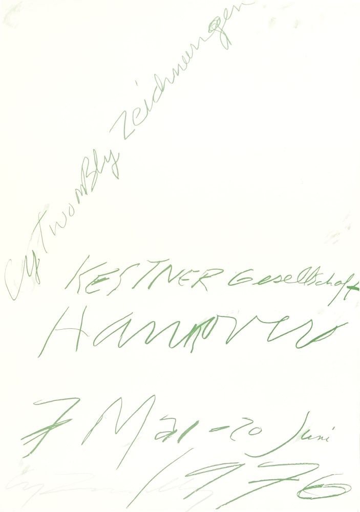 CY TWOMBLY - Cy Twombly: Zeichnungen - Color offset lithograph