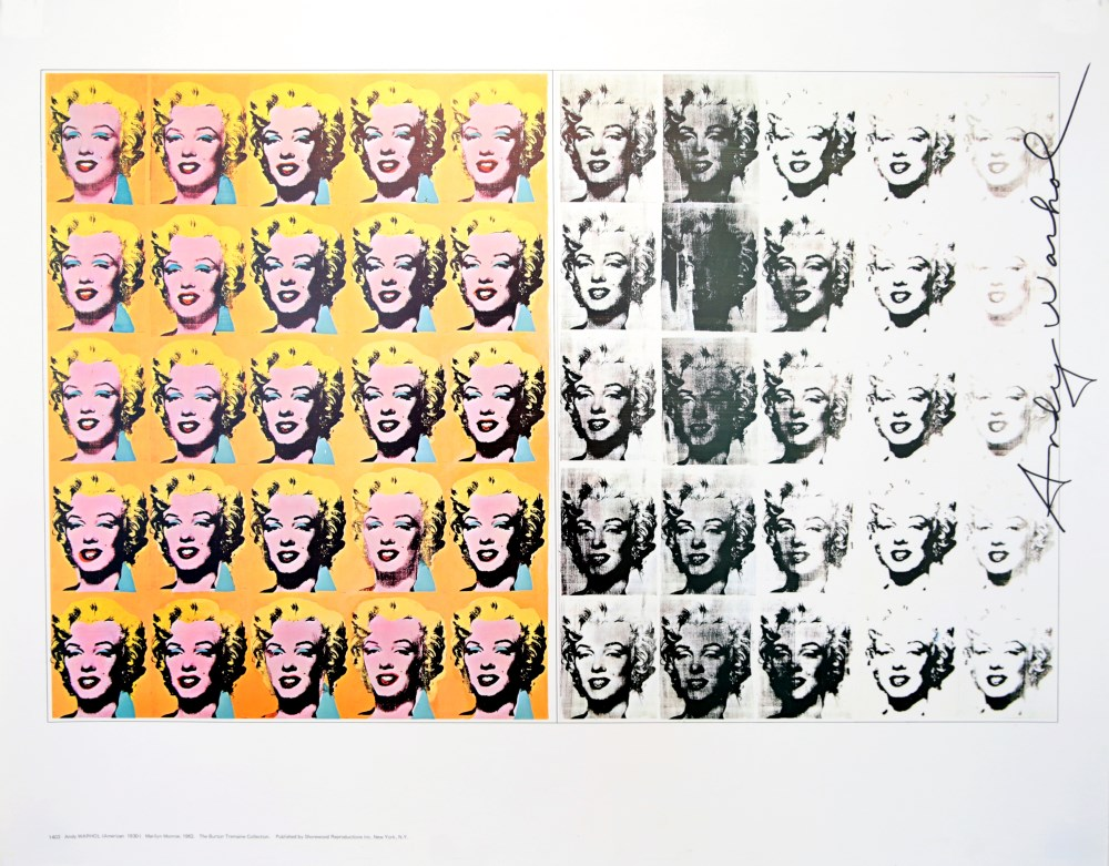 ANDY WARHOL - Marilyn Diptych - Color offset lithograph