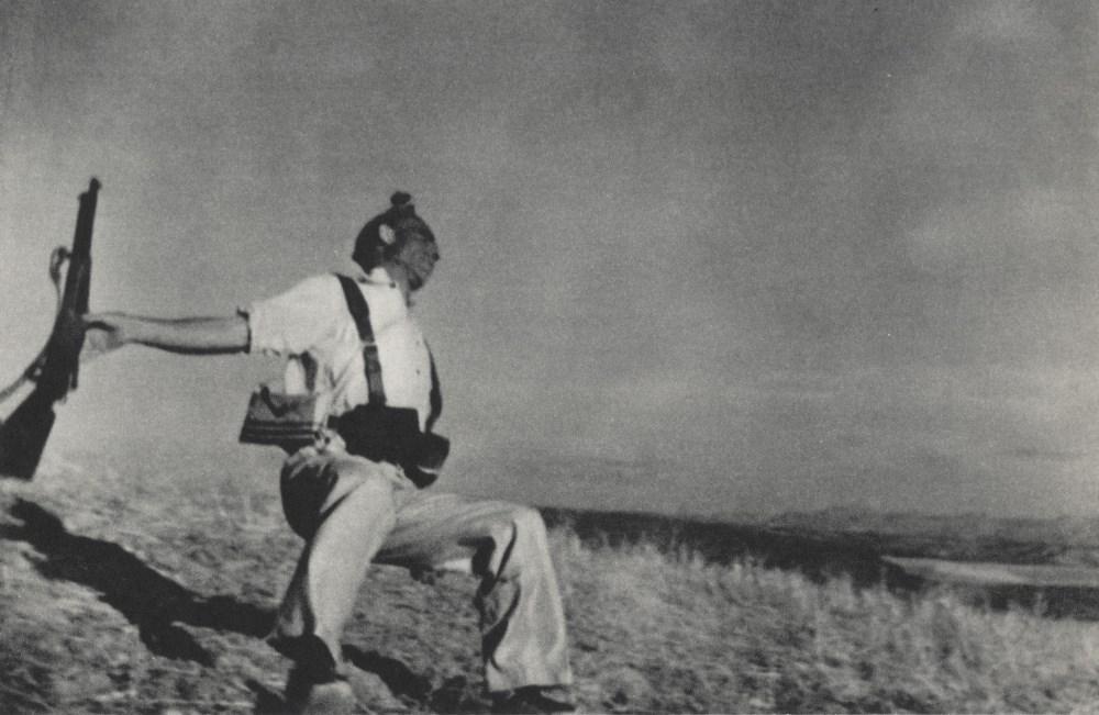 ROBERT CAPA - Death of a Loyalist Soldier - Original photogravure