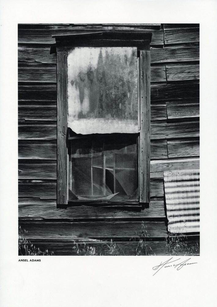 ANSEL ADAMS - Window, Bear Valley, California - Original vintage photogravure