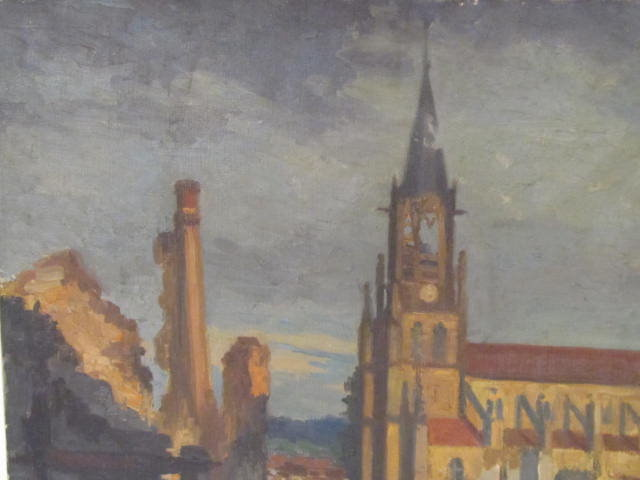 GEORGES PLASSE - Eglise au Baccarat - Oil on canvas - Image 4 of 6