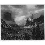 ANSEL ADAMS - Clearing Winter Storm, Yosemite National Park, Calformia - Original photogravure
