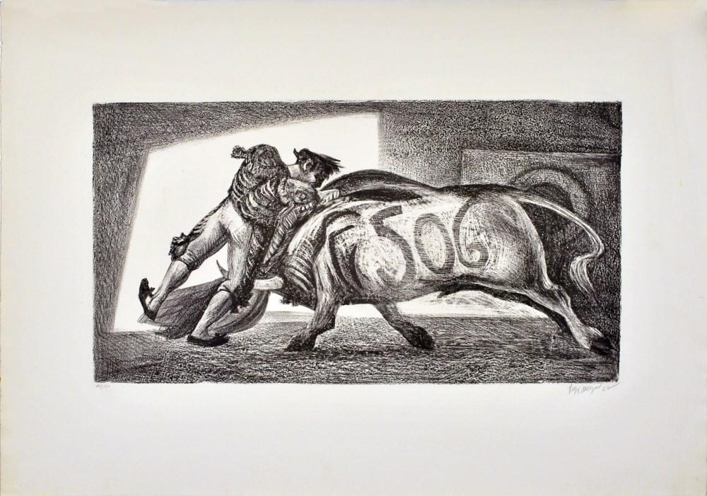 JOSE REYES MEZA - Toro 506 - Lithograph