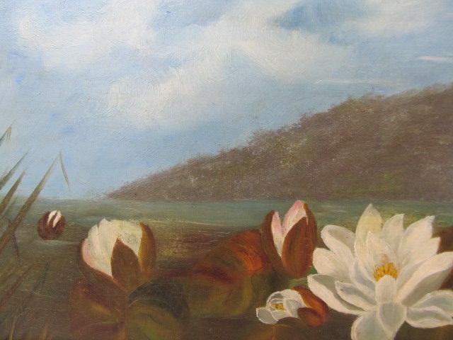 JOHN LAFARGE - Water Lilies - Oil on panel - Image 6 of 9