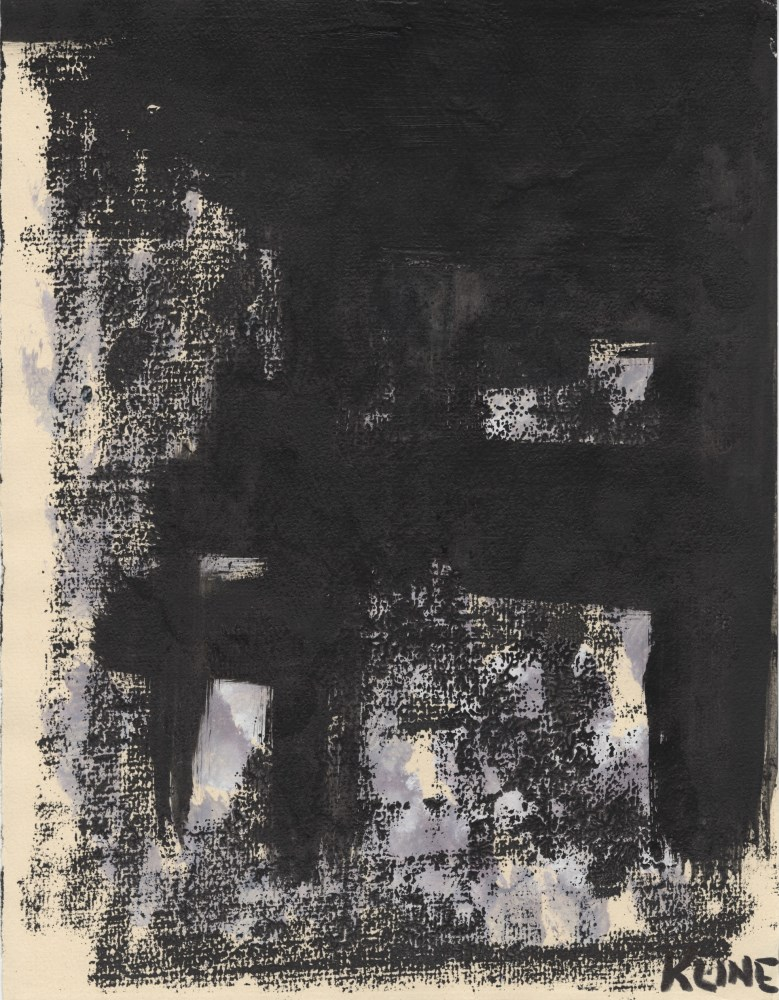 FRANZ KLINE - Sans titre - Mixed media (oil, watercolor, and ink) on paper