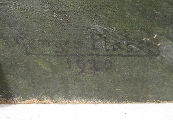 GEORGES PLASSE - Village au bord du fleuve - Oil on canvas - Image 2 of 8