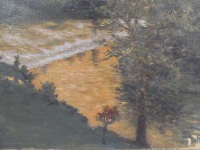 GEORGES PLASSE - Village au bord du fleuve - Oil on canvas - Image 8 of 8