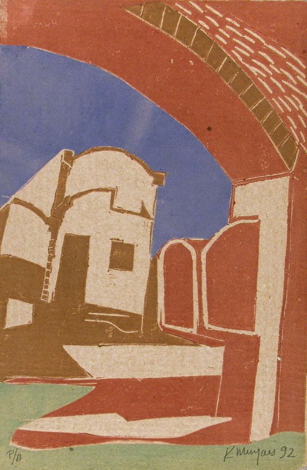 KARIMA MUYAES - Zacatecas - Color cutout monoprint