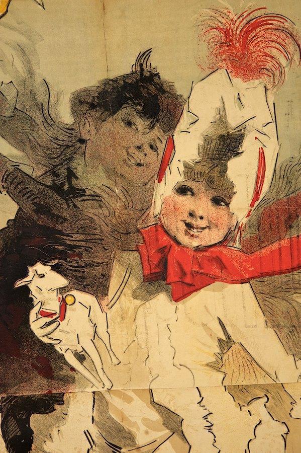 JULES CHERET - Aux Buttes Chaumont/Jouets - Original vintage color lithograph - Image 3 of 4