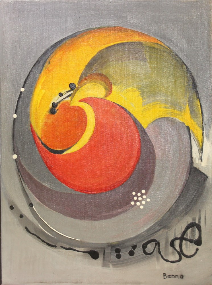 BENJAMIN GREENSTEIN BENNO - Complex Enzyme - Oil on canvas - Image 2 of 7