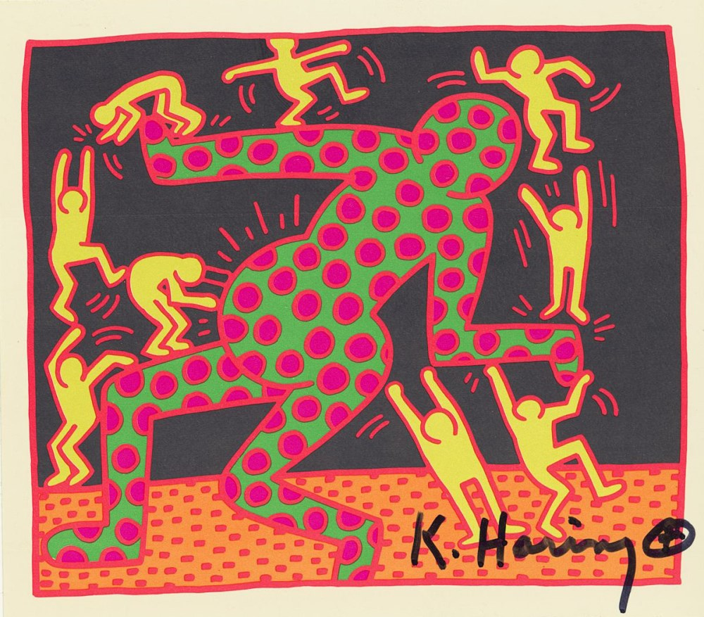 KEITH HARING - Fertility Suite #3 - Original offset lithograph