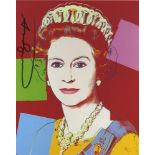 ANDY WARHOL - Queen Elizabeth II (#1) - Color offset lithograph