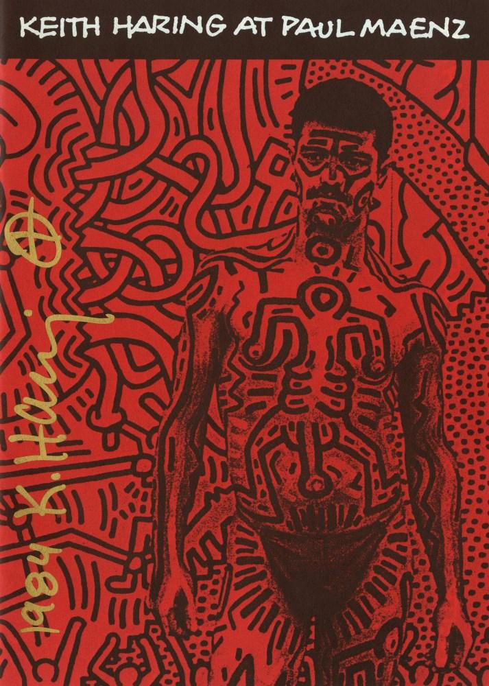 KEITH HARING - Keith Haring at Paul Maenz - Color offset lithograph