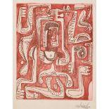STEVE WHEELER - Tigresita at Work - Color etching