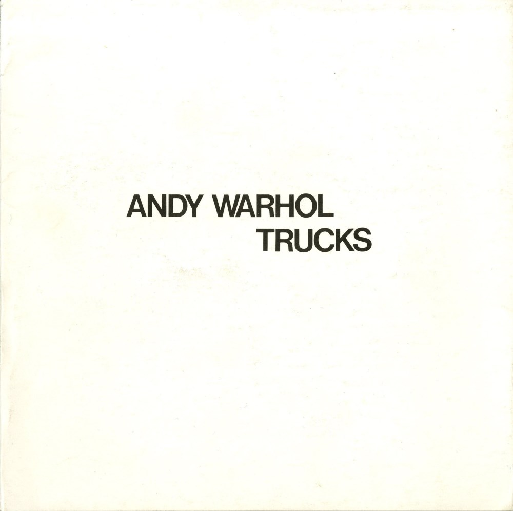 ANDY WARHOL - Trucks Suite - Color offset lithographs - Image 6 of 10