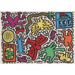 KEITH HARING - Pop Shop Tokyo Sticker Sheet - Color offset lithographic printing