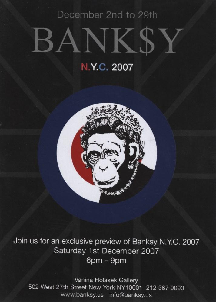 BANKSY - Monkey Queen/Rude Copper - Original color offset lithograph