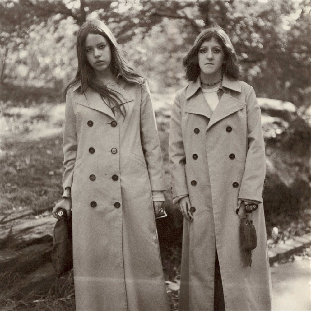 DIANE ARBUS - Two Girls in Identical Raincoats, Central Park, N.Y.C - Original vintage photogravure