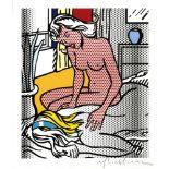 ROY LICHTENSTEIN - Two Nudes - Color relief print