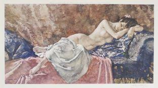 WILLIAM RUSSELL FLINT - Reclining Nude II - Original color collotype