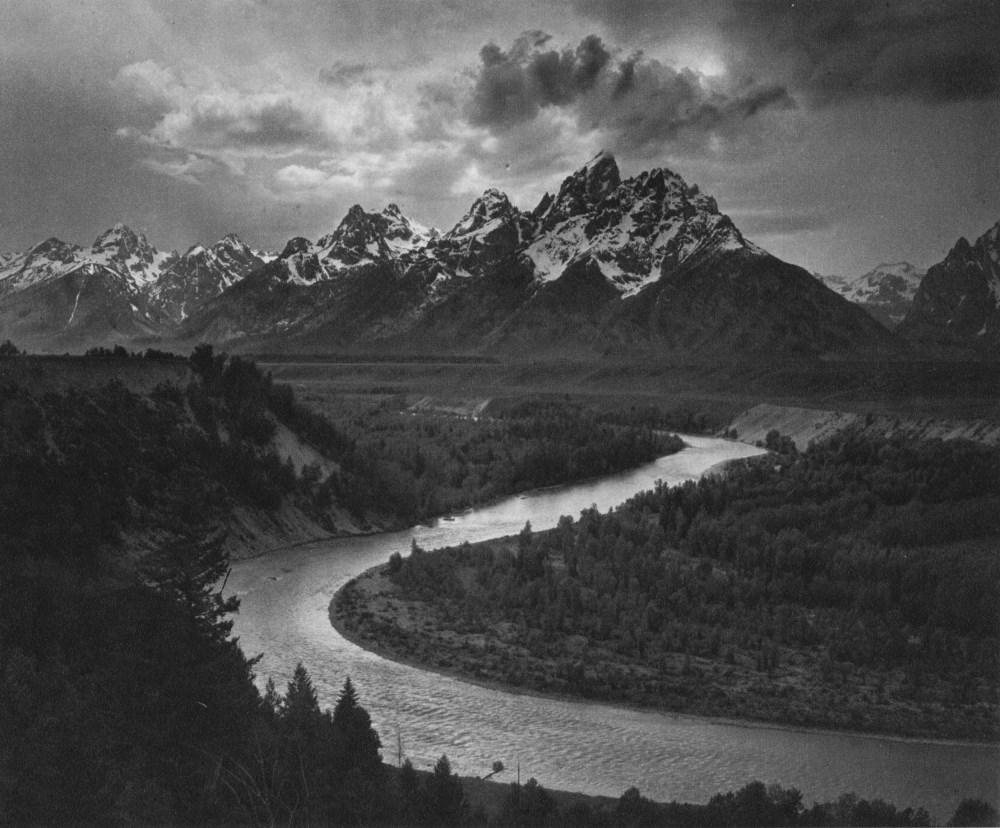 ANSEL ADAMS - The Tetons and the Snake River, Grand Teton National Park, Wyoming - Original photo...