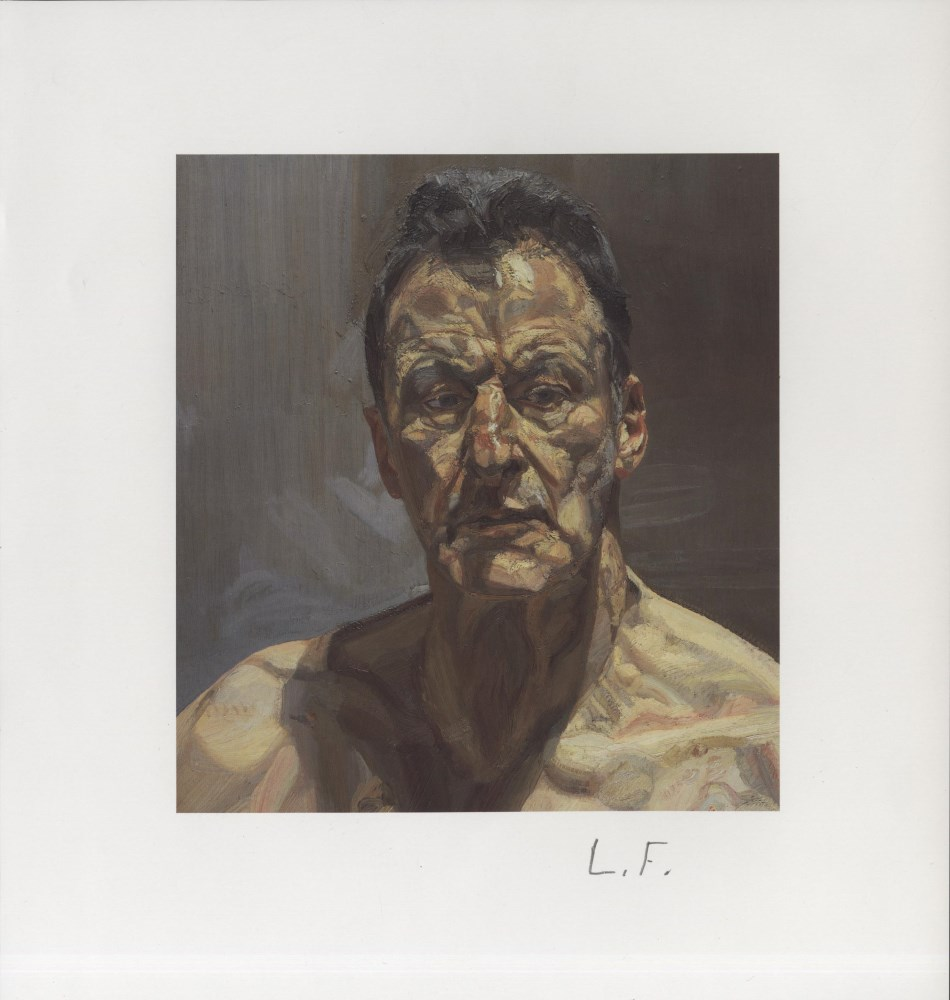 LUCIAN FREUD - Reflection (Self-Portrait) - Color offset lithograph
