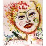 KARIMA MUYAES - Autorretrato con Criaturas - Oil on paper