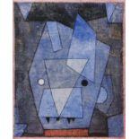"""PAUL KLEE - Little Blue Devil [""""Petit Diable Bleu""""] - Original color collotype"""