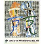 ROY LICHTENSTEIN - Brushstroke Contest - Color offset lithograph