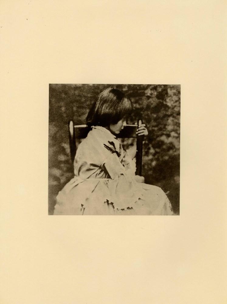 LEWIS CARROLL - Alice Liddell in Profile, Seated - Original photogravure