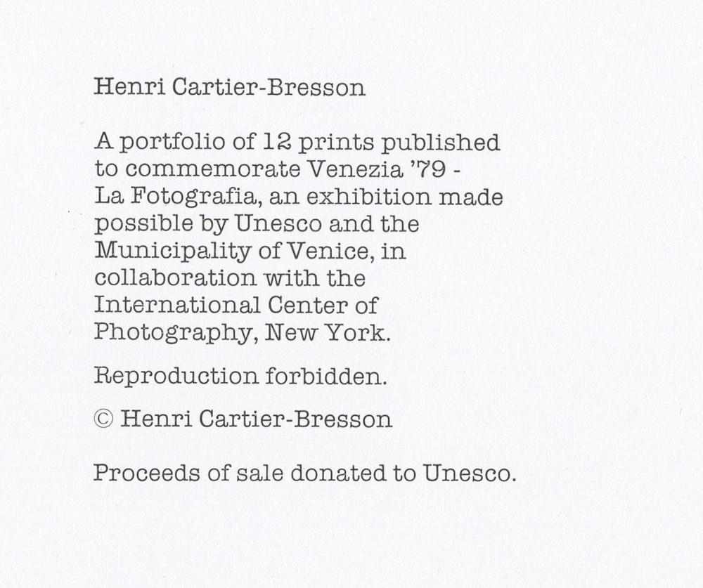 HENRI CARTIER-BRESSON - Alicante, Spain - Original photogravure - Image 3 of 3